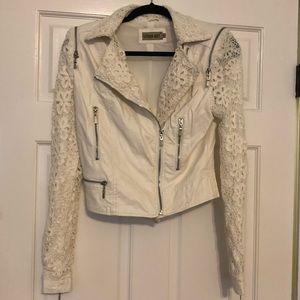 NWOT Urban Mist white faux leather jacket